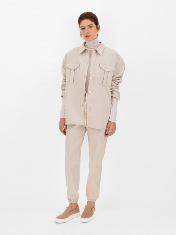 Overshirt Beige in Felpa Relaxed Fit Max Mara