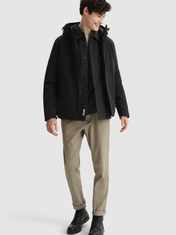 Giacca Nera Pacif in Shell Woolrich