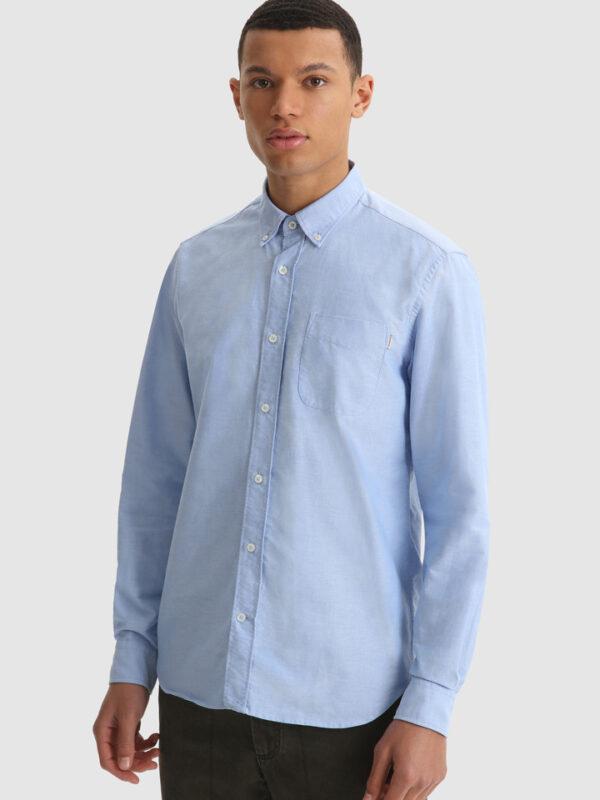 Camicia Celeste in Oxford Woolrich