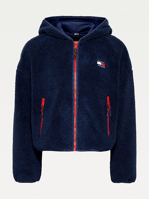 Giacca Blu in Sherpa Tommy Jeans