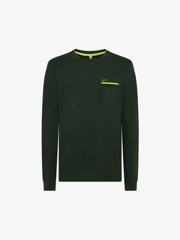 T-shirt Verde Pocket Sun68