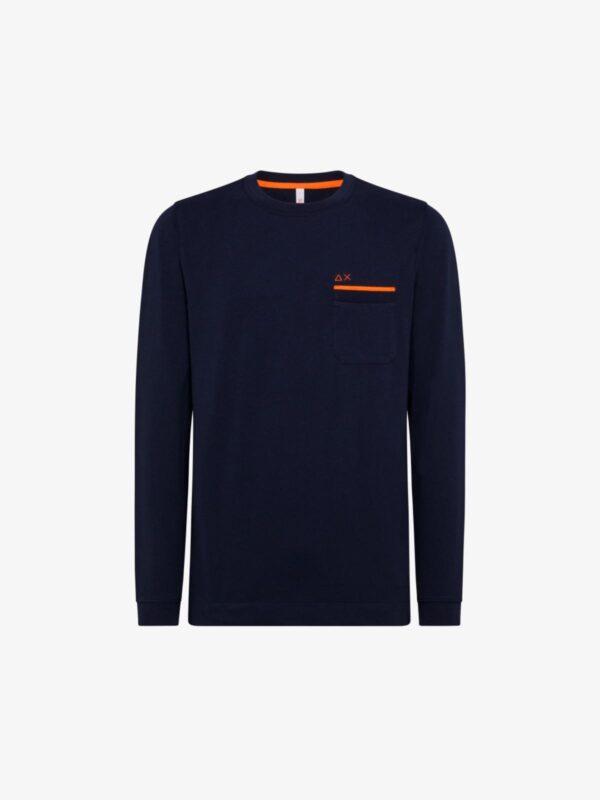 T-shirt Blu Pocket Sun68