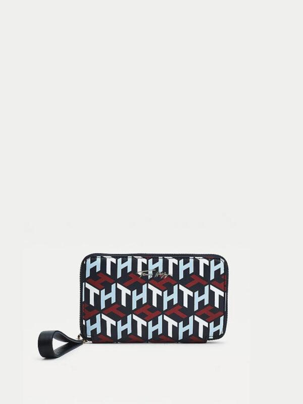 Portafogli Iconic con Monogrammi Tommy Hilfiger
