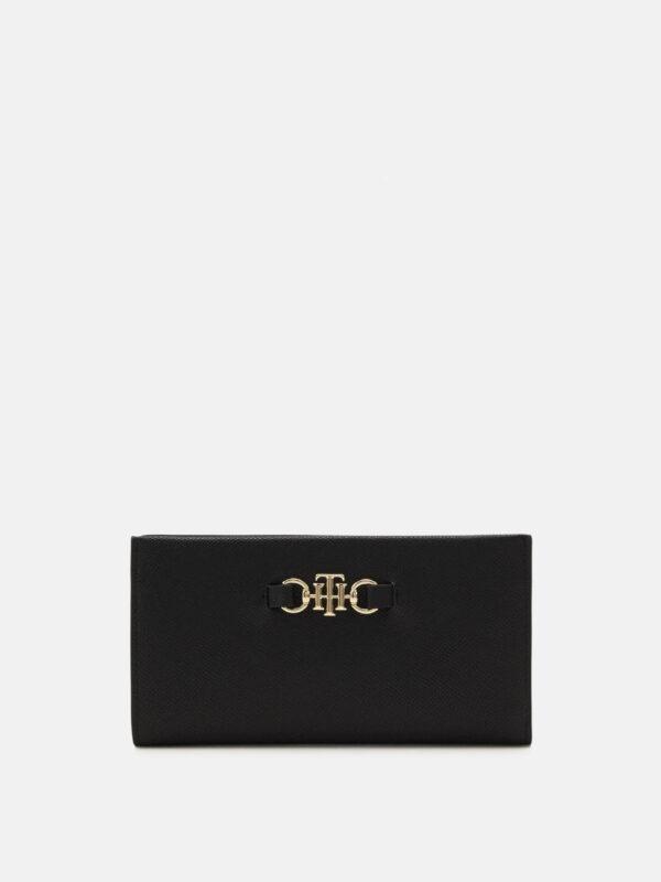 Portafogli Nero con Morsetto e Logo Tommy Hilfiger