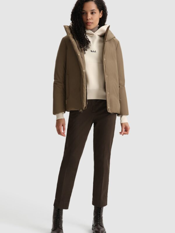 Giacca Corta Presque Taupe Woolrich