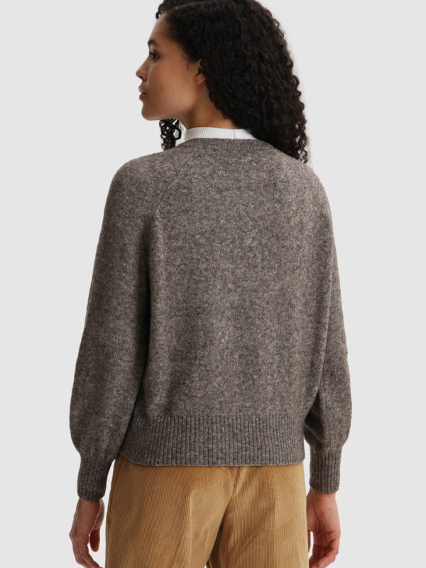 Maglione Coffee in Misto Lana Woolrich