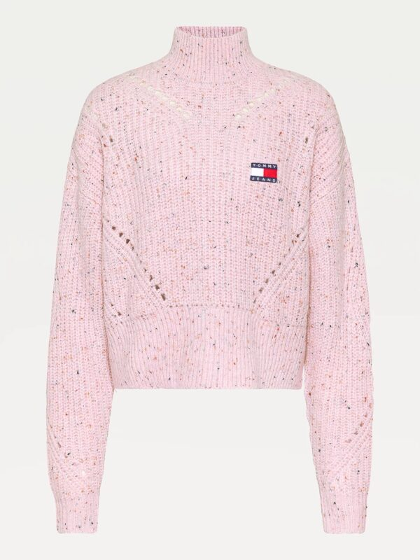 Pullover Rosa Collo Alto Tommy Jeans