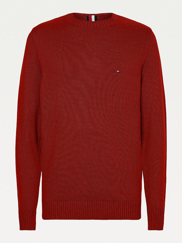 Pullover Rosso in Maglia Grossa Tommy Hilfiger